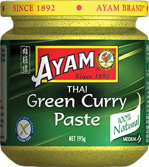 2D green curry paste