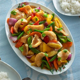 Fish & Vegetable Stir Fry