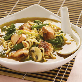 Flaked Salmon & Noodle Soup