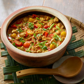 Thai Yellow Curry Chicken Slow Cooked