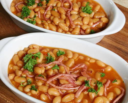BAKED BEANS BEEF BACON MIXED