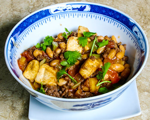 BEAN CURD WITH BAKED BEANS SPECIAL